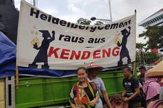 Protest against HeidelbergCement on December 8, 2017