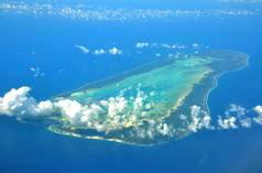 Aerial image of Aldabra Atoll