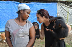 Chimpanzee rescue center near Monrovia, Liberia