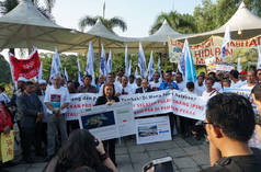 March to Malaysia's Parliament House to protest the Penang government's proposed Penang South Reclamation (PSR) project