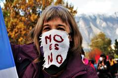Anti-mining march in Esquel, Argentina, May 4, 2020