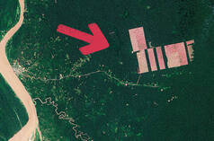 Satellite image of deforestation – Tamshiyacu, Peru