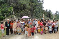 Indigenous Penan people protesting in Sarawak