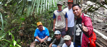 Activists in the rainforest of Borneo