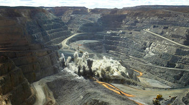 Open-pit gold mine