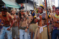 Indigenous people demonstrate against Belo Monte