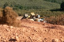 Bauxite mining in Mount Shenga in Tanzania